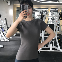 Women Yoga Shirts Crop Top Female Fitness Workout Tops For Women Short Sleeve Gym Shirt Holes Quick Dry Breathable Slim Sport