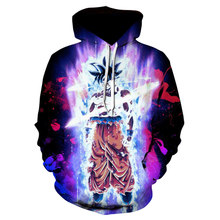 3D Anime Hoodie Dragon Ball Zกระเป๋าHooded Sweatshirts Poleron Hombre Streetwear Sudadera Dragon Ball Oversozed Hoodie Men Coat(China)