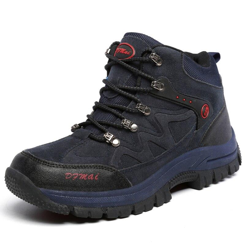 2019 Snow Boots Men Casual Winter Men Shoes Warm High Top Sneakers Men Hiking Shoes Professional Waterproof Trend