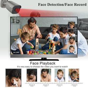 Image 2 - Techage 8CH 5MP HD POE NVR Kit CCTV System Two Way Audio AI IP Camera IR Cut Outdoor P2P Remote Video Security Surveillance Set