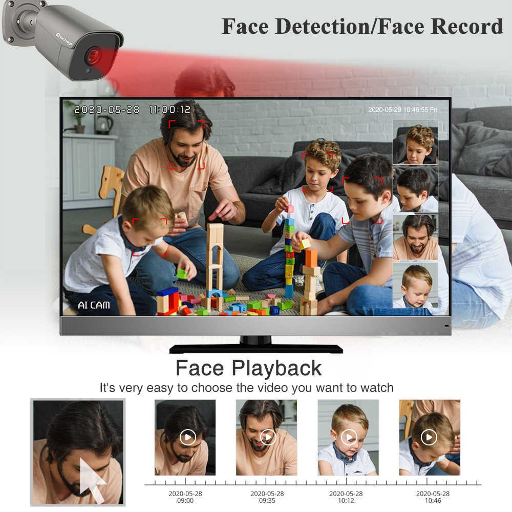 Techage 8CH 5MP HD POE NVR zestaw System CCTV dwukierunkowy Audio AI kamera IP IR Cut odkryty P2P zdalny zestaw nadzoru bezpieczeństwa wideo