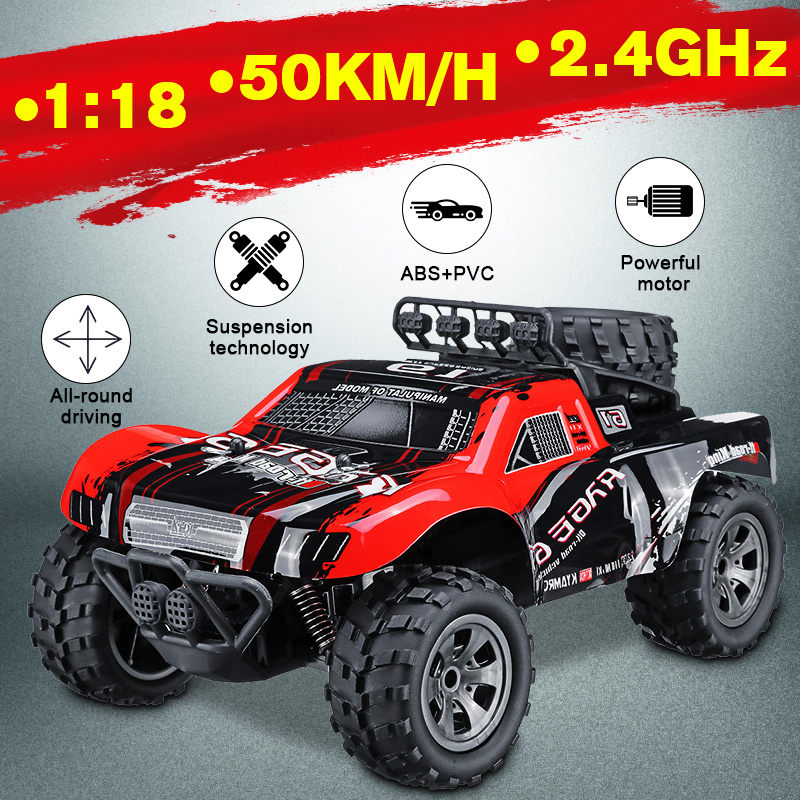 50km/h 1:18 Remote Control Car High Speed Rc Electric Truck Off-Road Vehicle 2.4G Machine Toy Car for Kids image