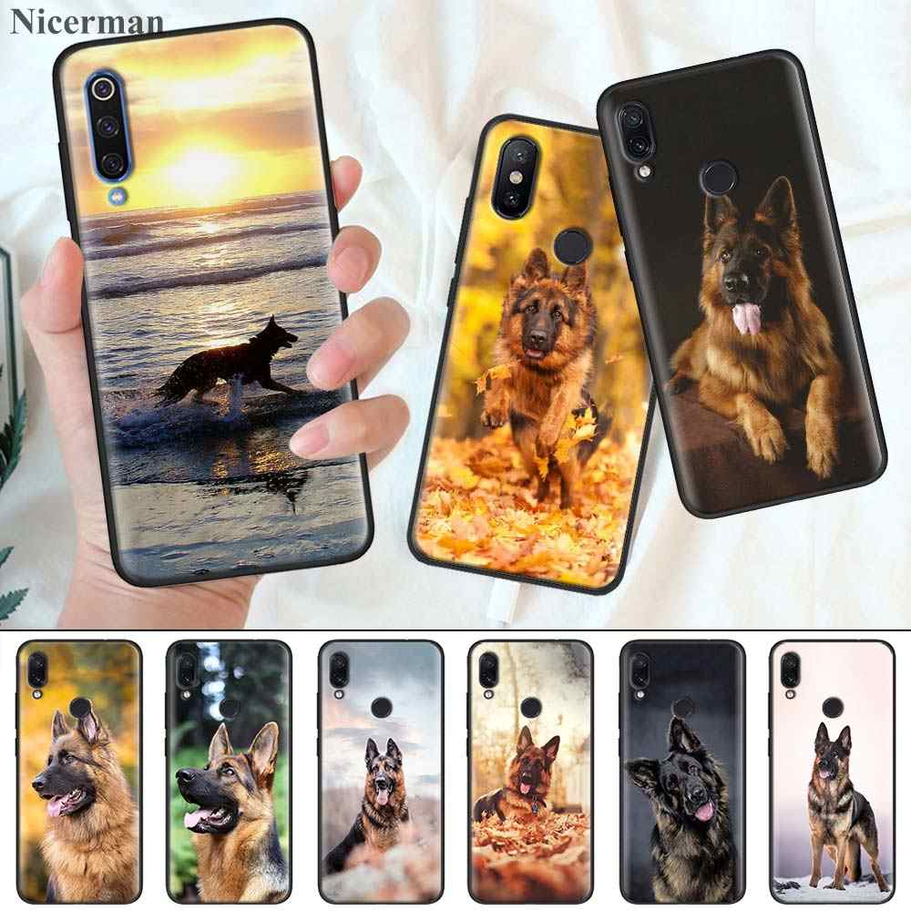 Silicone Coque Cover for Redmi 7 7A 6 6A K20 K30 5G Pro Note 8 7 7S 6 Case German Shepherd Dog Phone Case