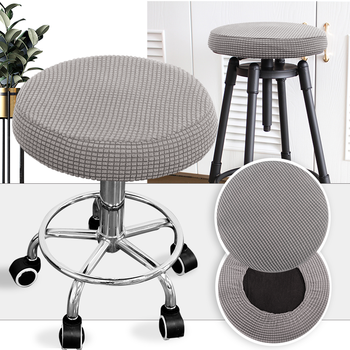 Round Fleece Fabric Seat Cover For Bar Stools 5 Chair And Sofa Covers