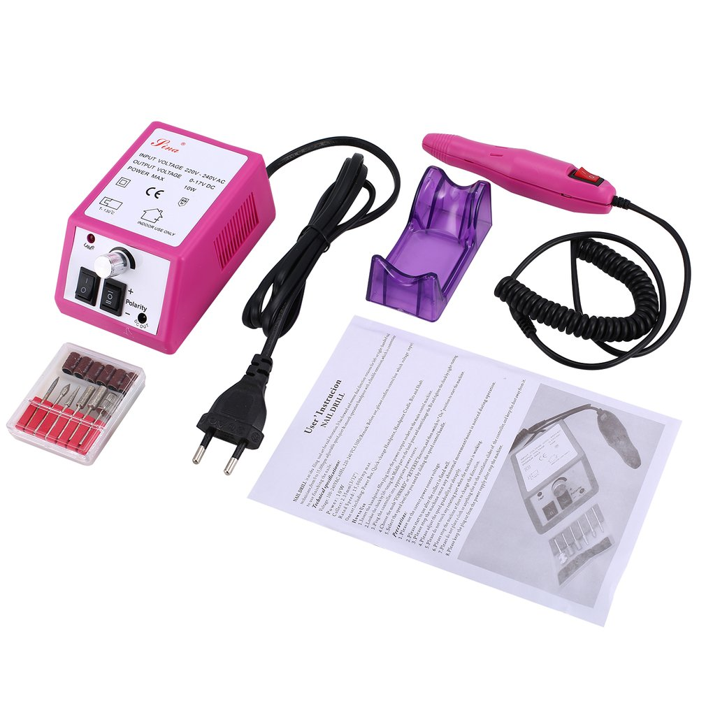 Electric Nail Drill Machine Nail Grinder Manicure Pedicure Files Tools Kit Nail Polisher Grinding Glazing Machine