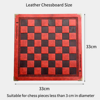 Buy Best Chess Board 8 Colors Embossed Design Leather Table Game Portable Universal Luxury Knight Chess Intellectual Competitive Toy Gift-