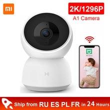 Xiaomi inteligentny aparat Webam 2K 1296P HD WiFi podczerwieni noktowizor 360 kąt kamery A1 kamera wideo dziecko Monitor bezpieczeństwa kamera IP