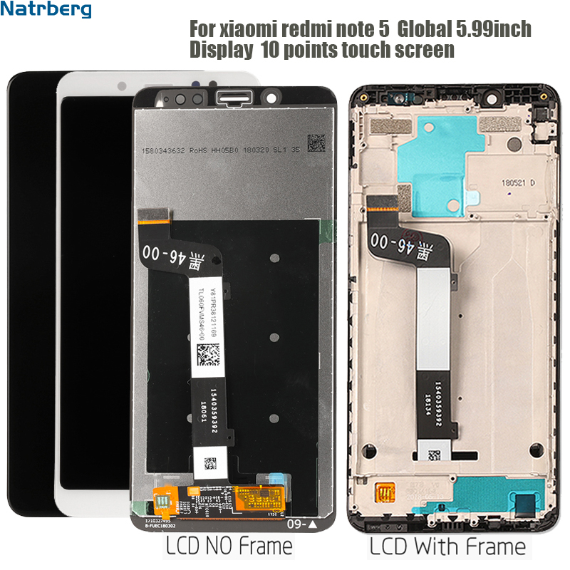 Display For Xiaomi <font><b>Redmi</b></font> <font><b>Note</b></font> 5 Display <font><b>LCD</b></font> Touch Screen With Frame For <font><b>Redmi</b></font> <font><b>Note</b></font> 5 <font><b>Pro</b></font> Note5 <font><b>Lcd</b></font> Screen Panel Digitizer image
