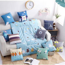 Fuwatacchi складная подушка для хранения одеяло с мультяшным