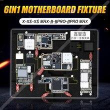 Xinzhizao – appareil de dégommage et de serrage de la puce iPhone X XS MAX 11 PRO, 6 en 1, outils d'entretien de la carte mère, téléphone portable