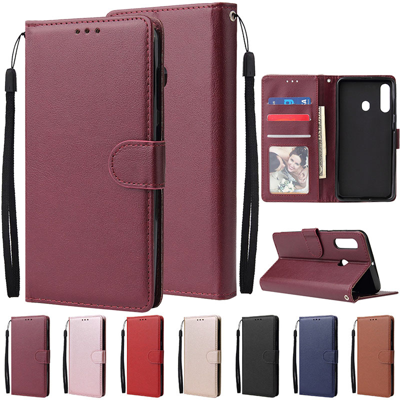 For <font><b>Samsung</b></font> A10 A20 A20e A30 A40 S A50 A60 A70 Flip Leather Wallet Case For <font><b>Galaxy</b></font> A3 A5 A7 2016 2017 A6 A8 Plus A9 <font><b>2018</b></font> Case image
