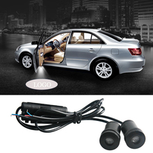2pcs Car Styling For Ford Logo Projector Shadow LED Car Door Light Welcome Light Interior Car Lighting Ambient Atmosphere Lamp 2x rear under mirror door welcome led ghost shadow projector light for ford kuga focus led logo light car styling lighting