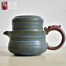 [GRANDNESS] чайный набор включает в себя 1 кастрюлю 1 чашку, дорожный чайный набор, портативный винтажный горшок из грубой керамики, чашка в японском стиле, чайник из керамики