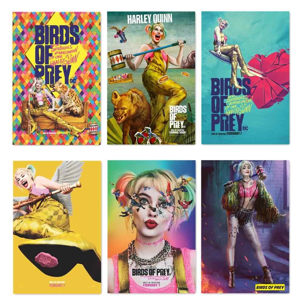 Póster de pájaros de presa 2020 película de seda película arte de pared cómics Joker imprime pared de la habitación del hogar Decoración 60x90cm Harley Quinn Posters