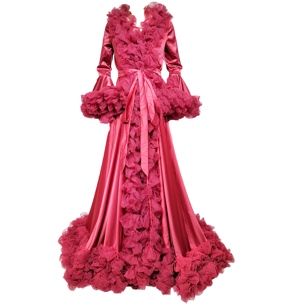 High Quality New Long Sleeves Baby Shower Maternity Dress Party Dresses Formal Pregnant Photo Gown for Women Photography Props