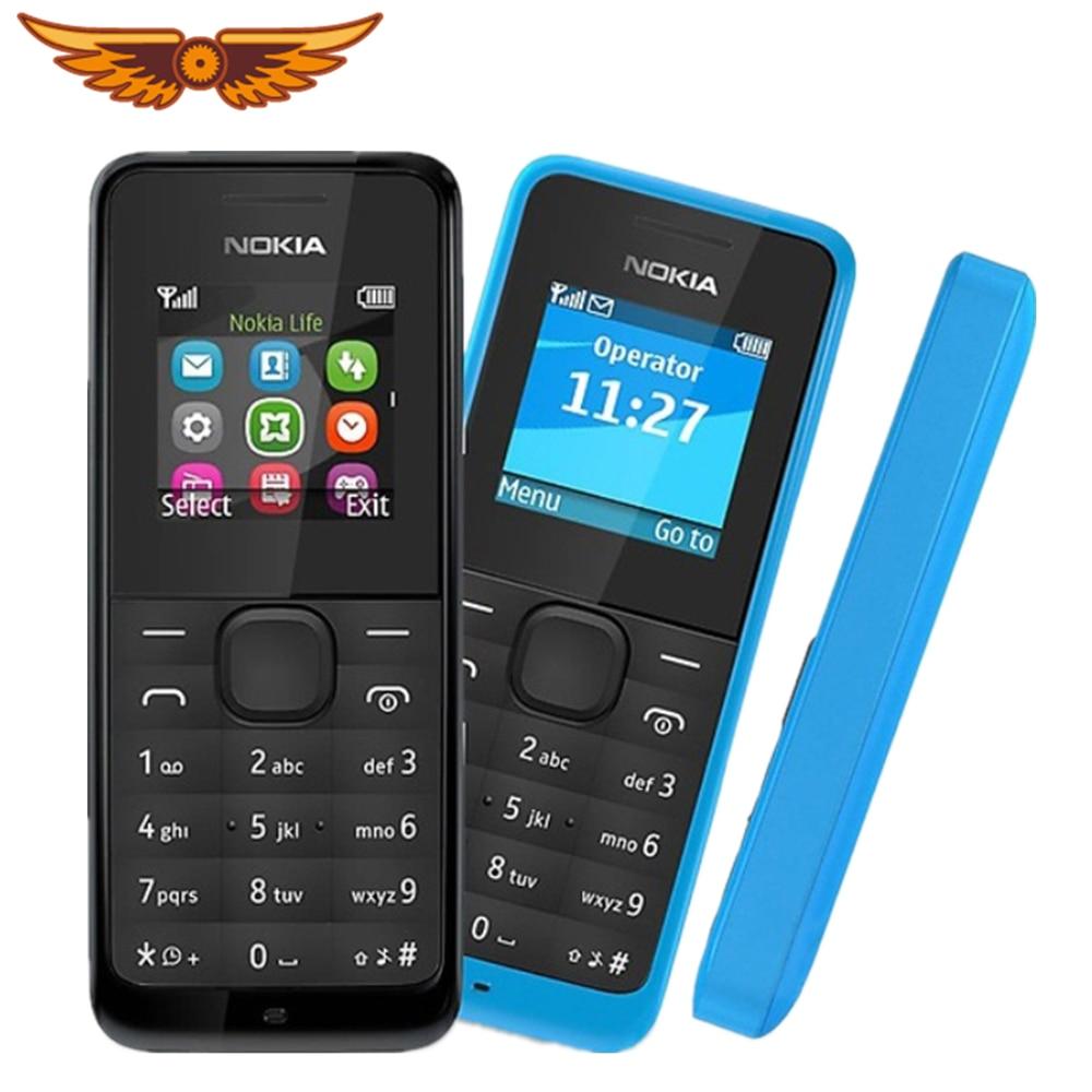 Oryginalny Nokia 105 Radio FM podwójne karty SIM dobrej jakości odblokowany telefon komórkowy darmowa wysyłka