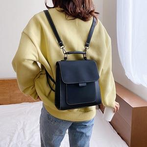 Image 4 - Kobiety modny plecak kobiet wysokiej jakości peeling skórzany książkowy torby szkolne dla nastoletnich dziewcząt Sac Dos plecak podróżny Mochilas