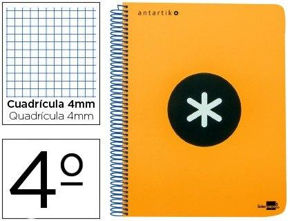 SPIRAL NOTEBOOK LIDERPAPEL A5 ANTARTIK HARDCOVER 80H 100 GR TABLE 5MM WITH MARGIN COLOR ORANGE