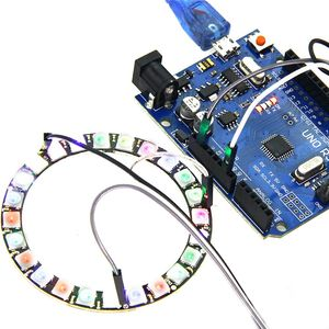 Image 3 - high quality 24Bit RGB LED Ring WS2812B 5050 RGB LED + Integrated Drivers For Arduino 1 order