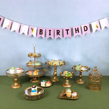 Tobs Mirror Gold Crystal cake stand set metal fondant cupcake sweet table candy bar decorating