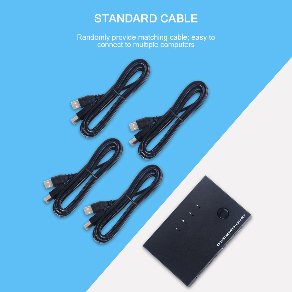 4 Port USB 2.0 HDMI KVM Switch PC Sharing VGA Switcher Splitter Box For Sharing Printer Keyboard Mouse KVM For Keyboard Mouse