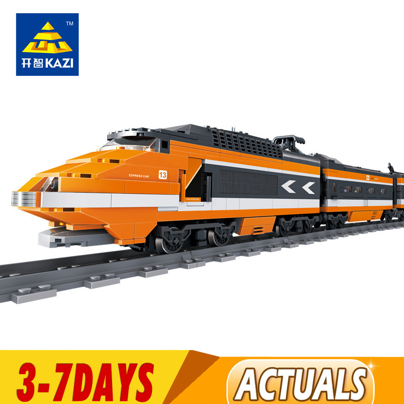 DHL IN Stock Horizon Express Out of Print The Sky Train Model Building Kits Blocks Bricks Compatible 10233 21007 1
