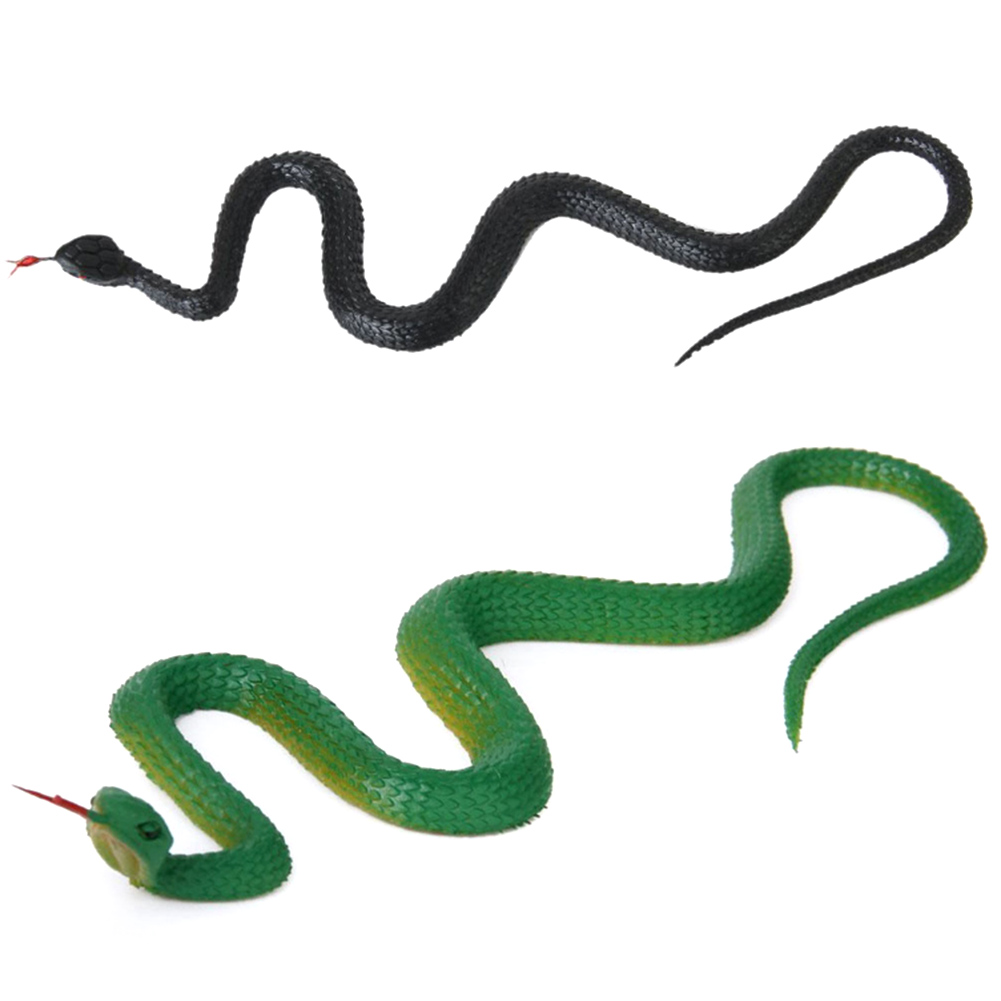 Simulation Rubber Snake Artificial Rubber Snake Model Toy Fake Animal Toy Gift Halloween Party Game Toy Supplies