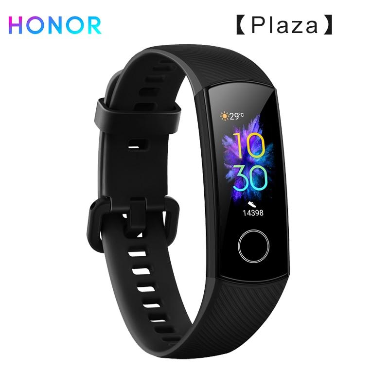 Huawei honor band 5 pulseira inteligente oxímetro amoled tela de toque a cores nadar postura detectar 5atm à prova dwaterproof água