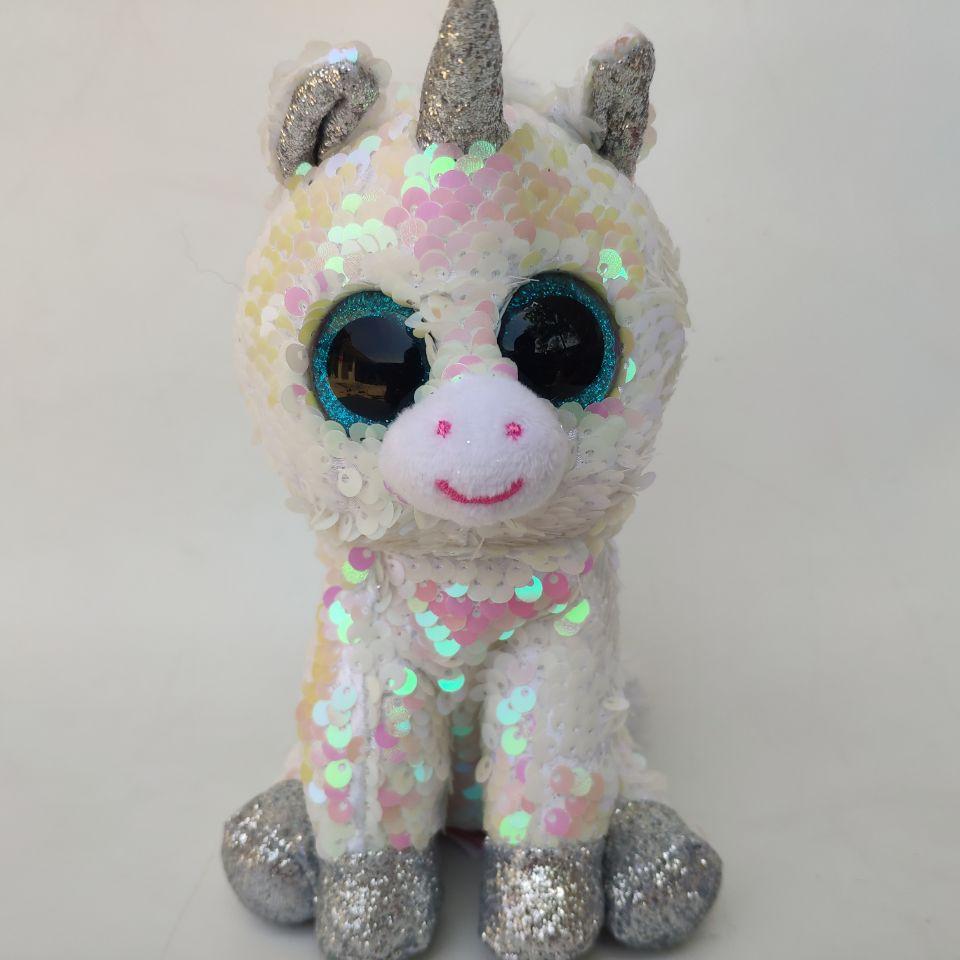 "Ty Beanie Boos 6/"" Sequin yappy Stuffed Plush Kids Toy Animal Plush Dolls Gift"