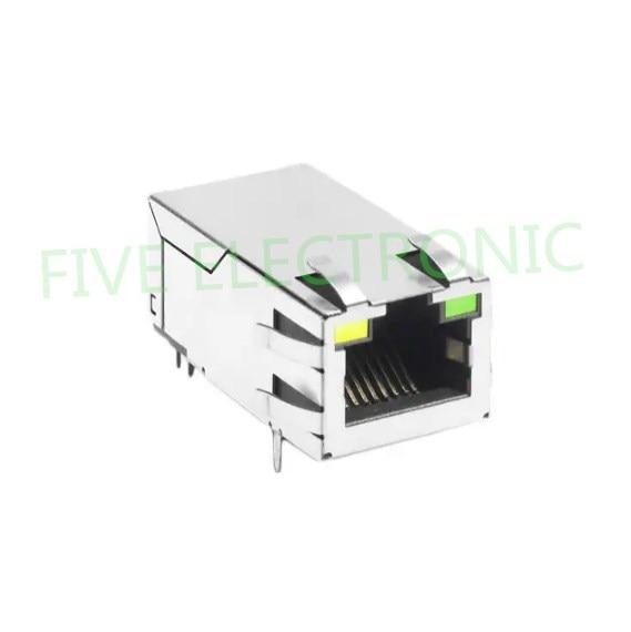 JK0-0177NL 1 Port RJ45 Magjack Connector Through Hole 10/100/1000 Base-T, AutoMDIX, Power Over Ethernet+ (PoE+) JK0-0177NL