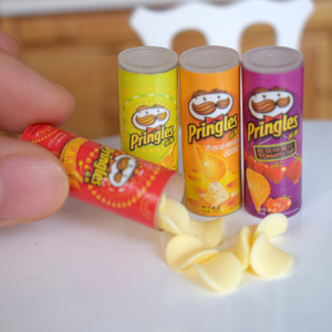 Mini Simulation Potato Chips Bottle Dollhouse Miniature Play Kitchen Food for Blyth, Barbies, BJD 1/6 Doll Toy(China)