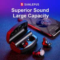 SANLEPUS auriculares Bluetooth auriculares inalámbricos auténticos TWS 5,0 auriculares deportivos auriculares bajos estéreo auriculares Cancelación de ruido para teléfonos