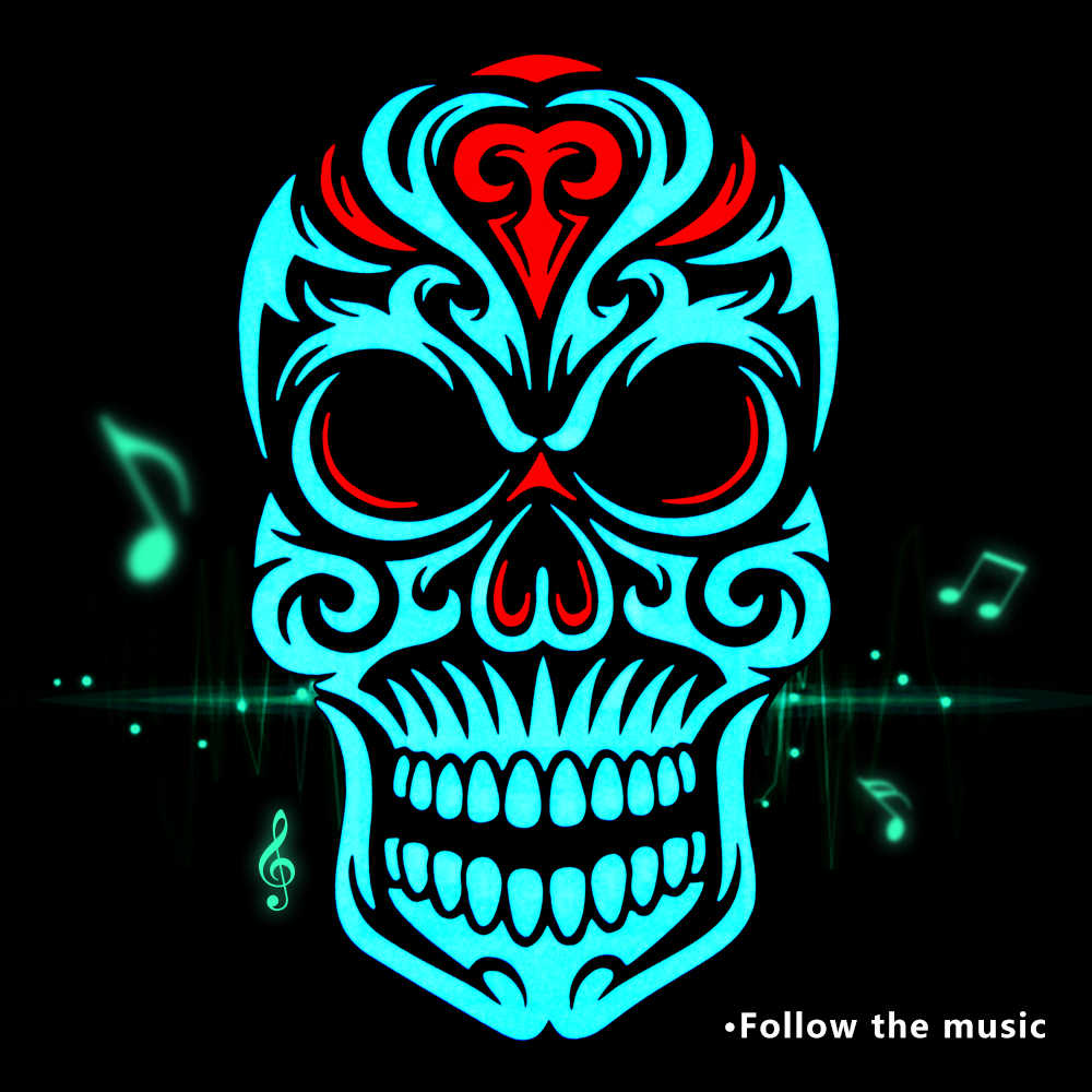 LED Cold Light Sound Voice Control Mask Glowing Cosplay Party Mask for Bar KTV