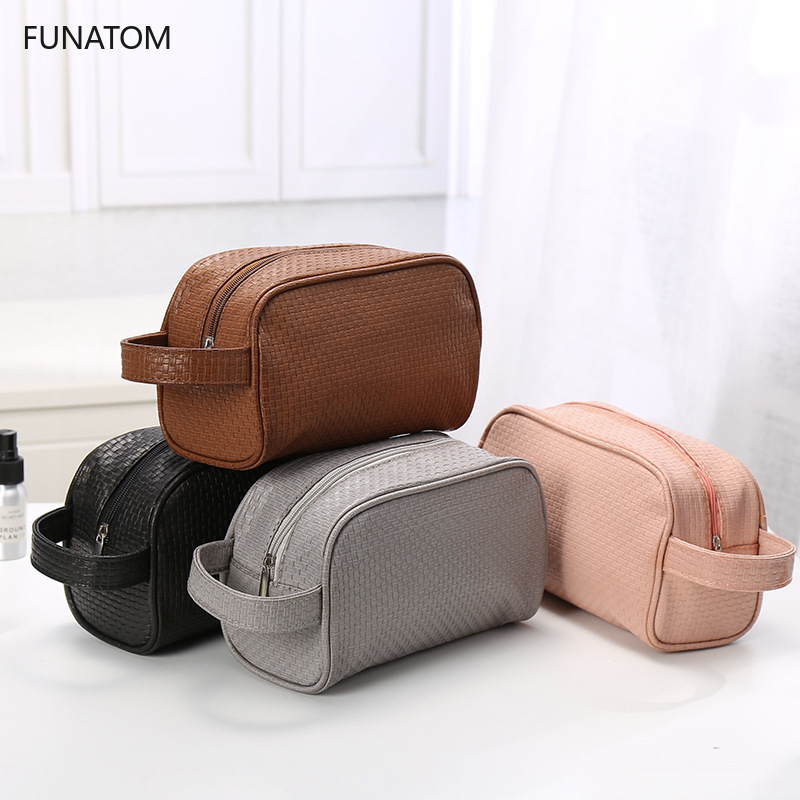 Waterproof Toiletry PU Bags Leather Travel Cosmetic Bag Organizer Women Makeup Bag Neceser Make Up Case Beauty Storage Bags