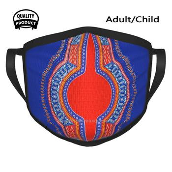Dashiki Designer Black Breathable Reusable Mouth Mask Loincloth Wax Addis Ababa African African Pattern Luxury Love Good image