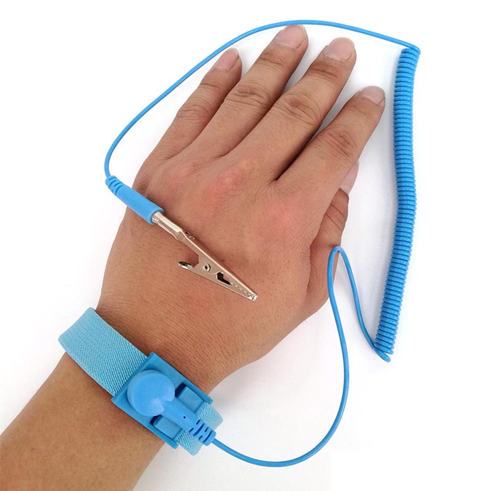 Adjustable Anti Static Bracelet PVC Wrist Electrostatic ESD Discharge Cable Reusable Wrist Band Strap Hand With Grounding Wire