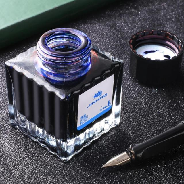 30/50ml black red blue Glass Bottle Ink Non-carbon Color Portable Fountain Pen Ink  School Office Stationery Supplies 1