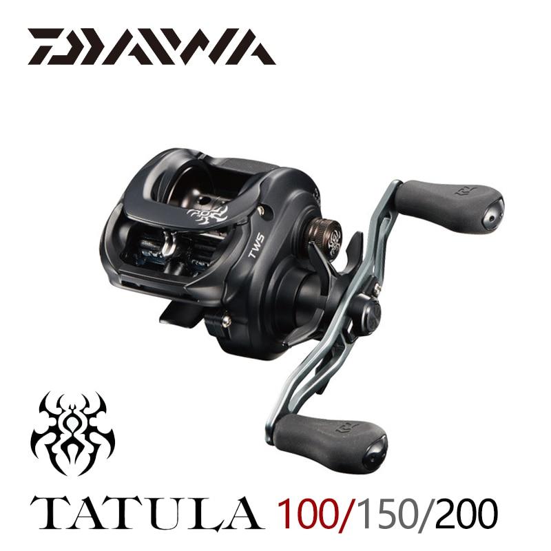 Рыболовная катушка DAIWA TATULA 100 150 200, катушка для заброса приманки с максимальным усилием фрикциона 5 кг/6 кг, низкопрофильная Рыболовная катушк...