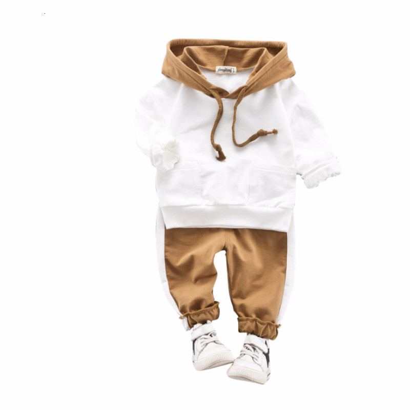 Spring Autumn Children Baby Girl Boys Cotton Clothes Infant Sports Hooded Sweatshirt Pants 2pcs/Sets Kid Casual Suits Tracksuits