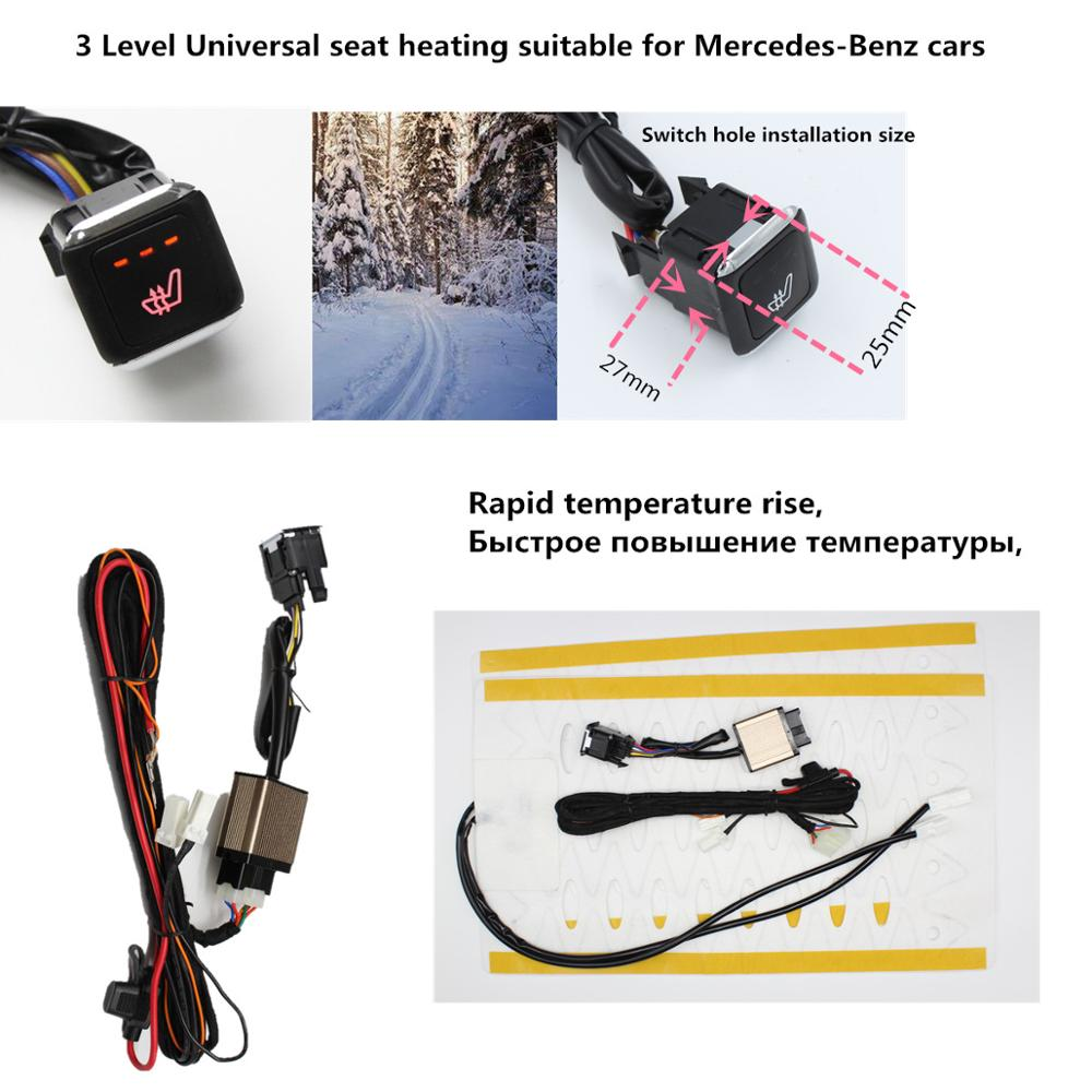 3 Level Universal Car Alloy Wire Seat Heater System / Car Heating Pads / Car Heated Pads Suitable For Mercedes-Benz Cars