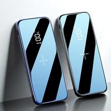 Qi – chargeur sans fil 20000 mAh, Power Bank, batterie externe, Power Bank, pour iPhone, Xiaomi, Samsung, écran miroir