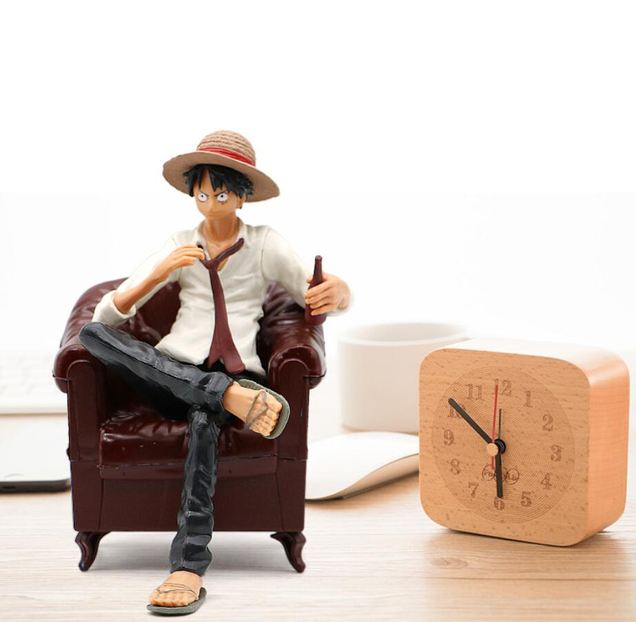 Cute Action Figure One Piece Monkey D Luffy Sabo Ace Luffy Gear One Piece Figurine With Sofa 13cm For Car Home Decoration Toys