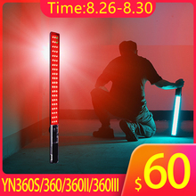 купить Yongnuo YN360 YN360II YN360III YN360S LED Video Light Handheld Ice Stick 3200k to 5500k RGB colorful controlled by Phone App онлайн