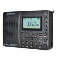 Radio Digital K-603 con Bluetooth 5,0, pantalla en tres idiomas, tarjeta FM, alta fidelidad, calidad de sonido, para portátiles y teléfonos móviles