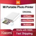Xiaomi MI Цзя портативный мини Карманный фотопринтер комплект принтер Bluetooth беспроводной Bt Термопринтер для мобильный телефон