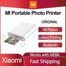 Xiaomi mijia mi portátil mini bolso kit impressora de fotos impressora bluetooth sem fio bt impressora térmica para o telefone móvel