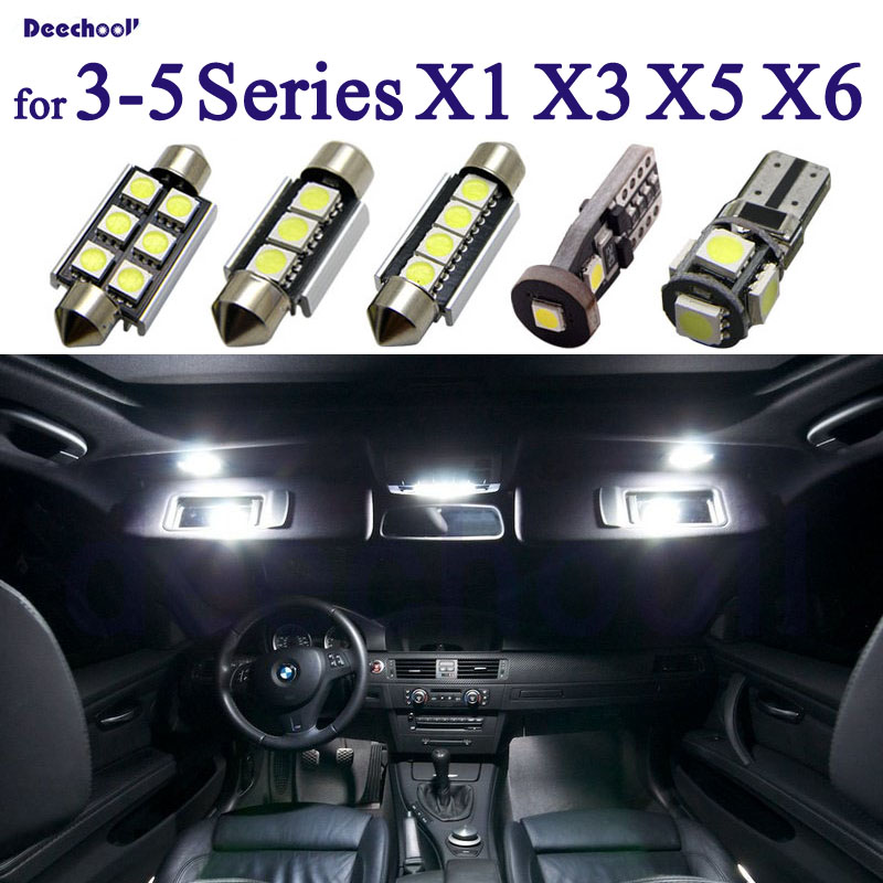 100% Canbus <font><b>LED</b></font> License Plate Bulb + Interior Dome Light for BMW <font><b>E36</b></font> E46 E90 E91 E92 E93 E39 E60 E61 F10 E84 E83 F25 E53 E70 E71 image
