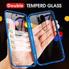 Magnetic Adsorption Metal Case for Xiaomi Redmi Note 10 9s 8 7 Pro Redmi 9A 9C K20 Mi 11 10T Pro Lite X3 Double Sided Glass Case