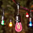 15M rgb 220V LED multicolores S14 chaîne lumières étanche IP65 LED chaîne extérieure jardin Patio vacances mariage décoration - 1