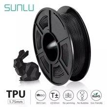 Sunlu tpu 0.5kg filamento flexível com cor completa 1.75mm para o presente flexível de diy ou o navio de impressão modelo com 5 peças